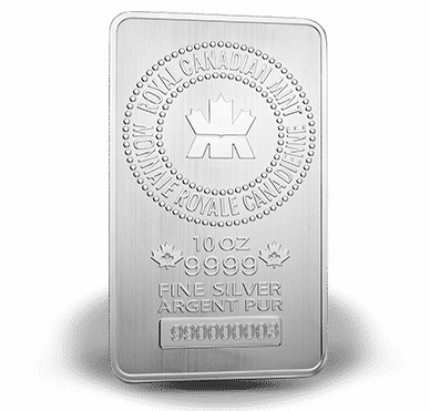 10 Oz Silver Bar Royal Canadian Mint Serialized The